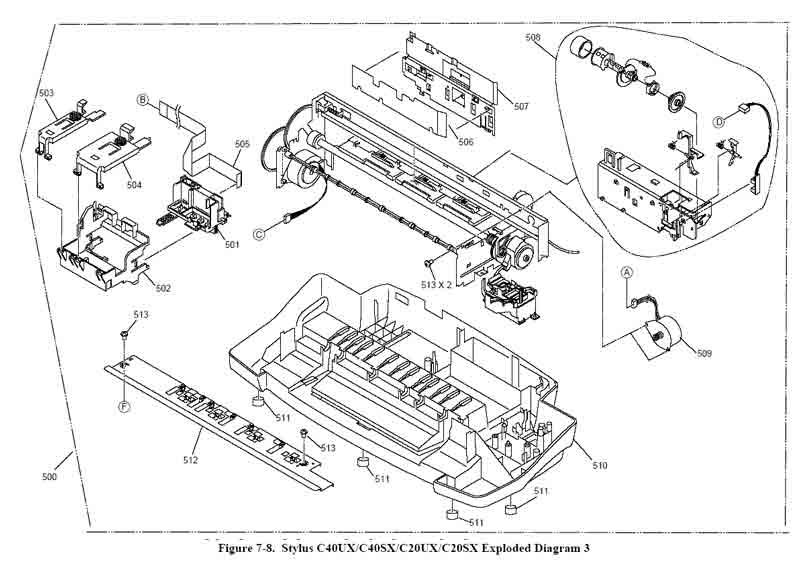 Схемы струйников Epson
