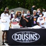 Aaron Jones Yards for Shoes - Cousins Subs Kickoff of event