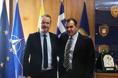 Συνάντηση του δημάρχου Κατερίνης με τον Υπουργό Άμυνας