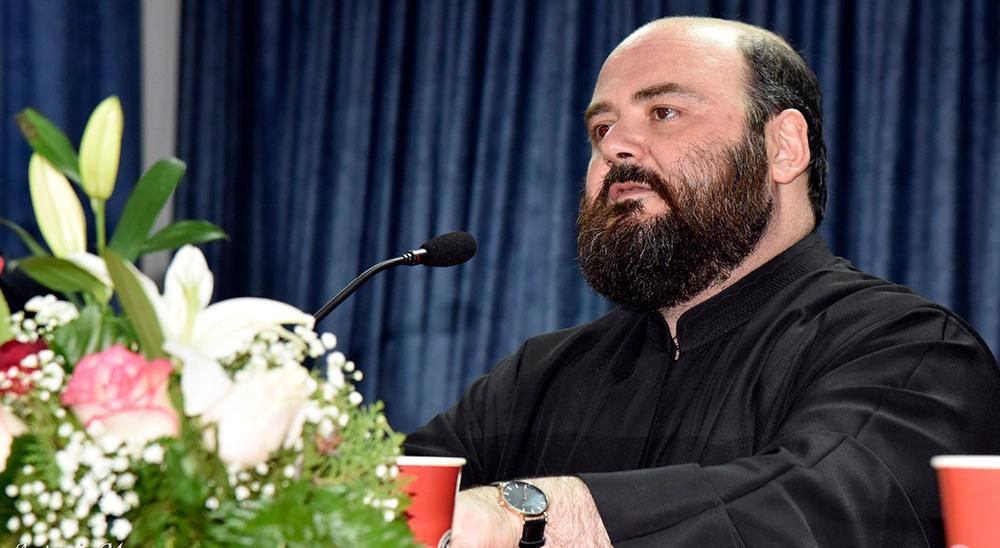 Ο π. Χαράλαμπος Παπαδόπουλος (Λίβυος) στη Σχολή Γονέων Ανοικτό Πανεπιστήμο Κατερίνης