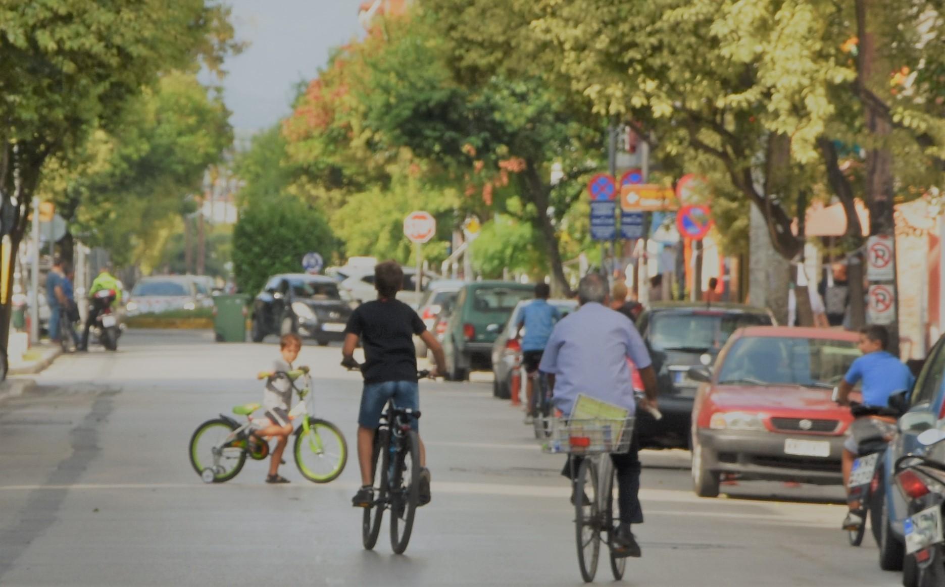Κατερίνη - Συμβολική ποδηλατοπορεία και μήνυμα για λιγότερη χρήση αυτοκινήτου