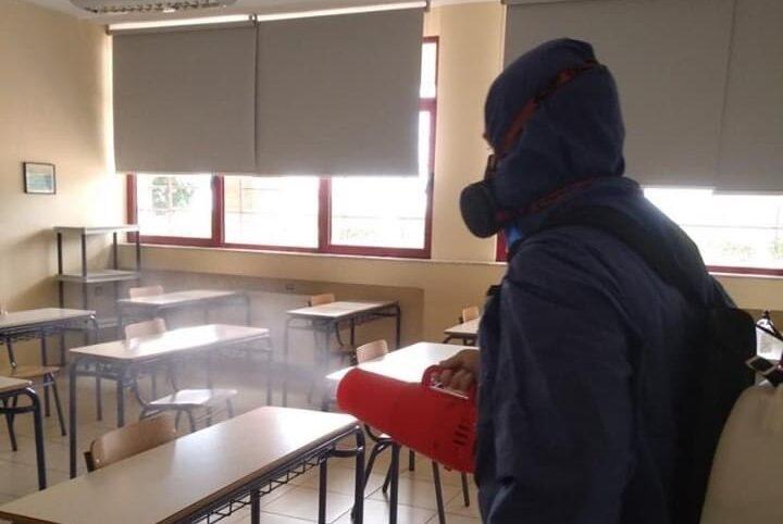 Δήμος Δίου-Ολύμπου | Προληπτική απολύμανση σχολικών μονάδων κατά του Covid-19