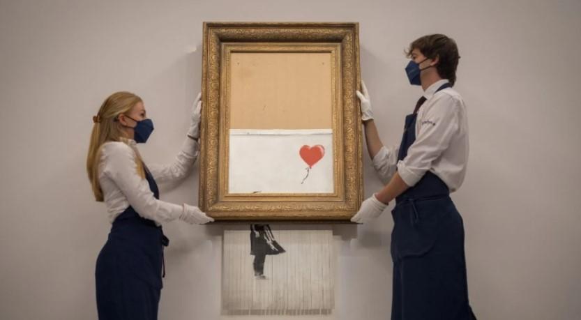 Σε τιμή-ρεκόρ πωλήθηκε μισοκατεστραμμένο έργο του Banksy