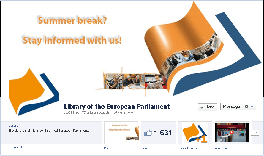 The Library on social media: Facebook