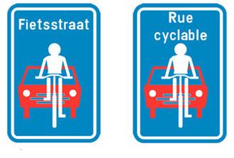 Priorité aux cyclistes ! Mais voitures tolérées…