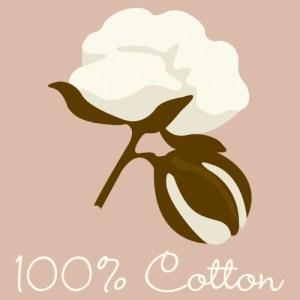 100% Cotton sign