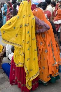 Women in colorful costumes