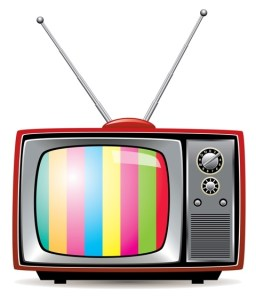 Vector illustration of retro tv set