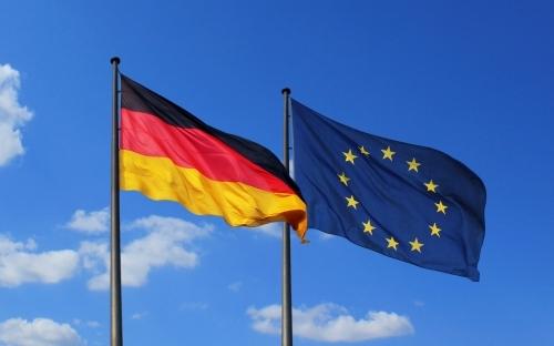 German and EU flag