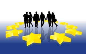 People inside EU stars