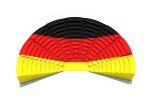 d concept german parliament with flag colors