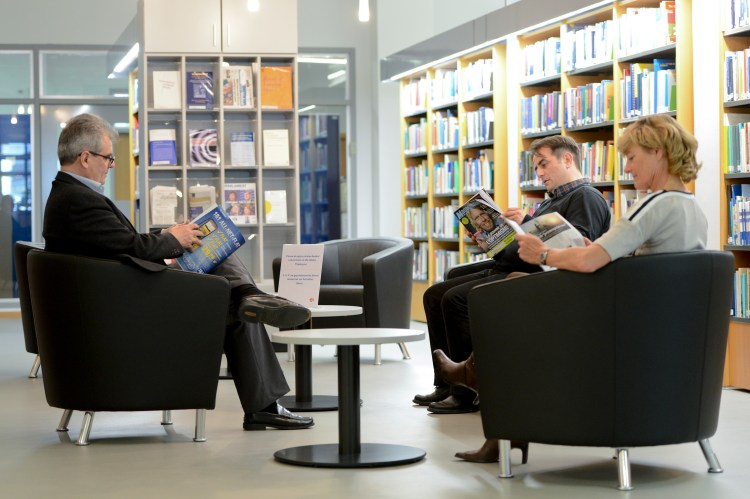 Illustration of the new library in the SCH building in Luxembourg