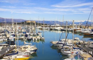 Yachts in the port of Antibes, Cote d'Azur