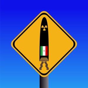 Iranian missile warning sign