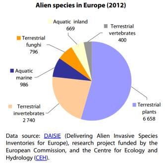 Alien species in Europe (2012)