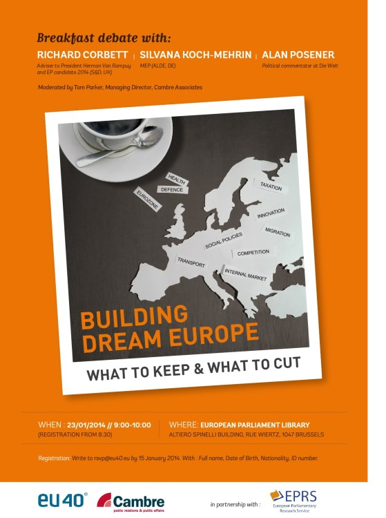 Building Dream Europe: What to keep and what to cut?