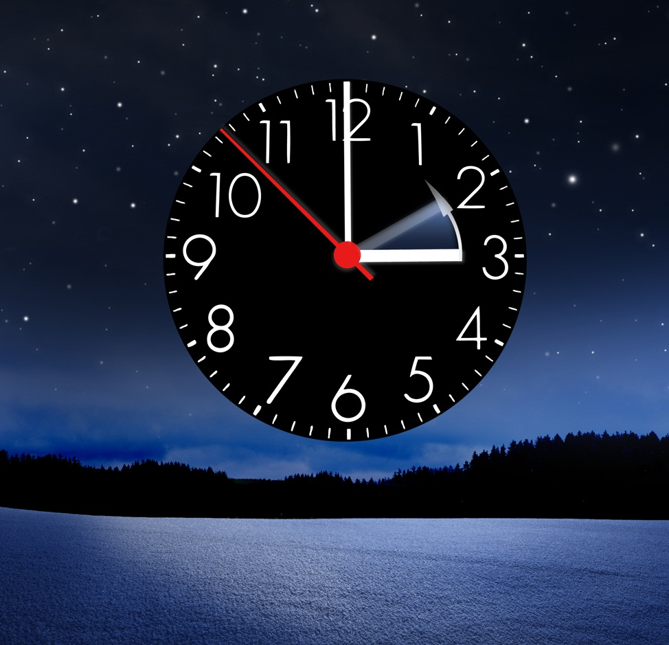 Changing of the clocks from summertime to wintertime