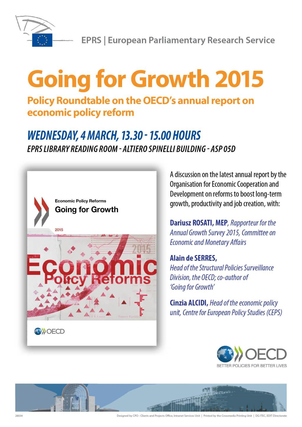 EPRS hosts debate on OECD's flagship report on growth on 4 March 2015