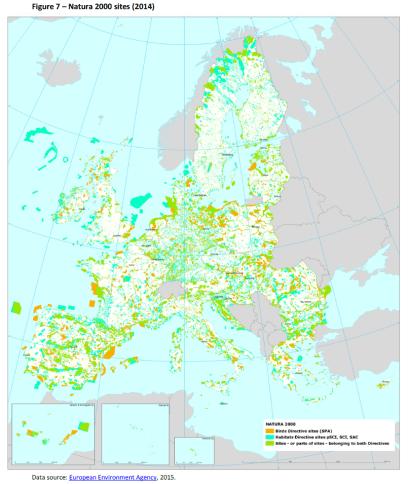 Natura 2000 sites (2014)
