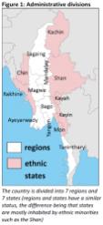 Administrative divisions in Myanmar/Burma