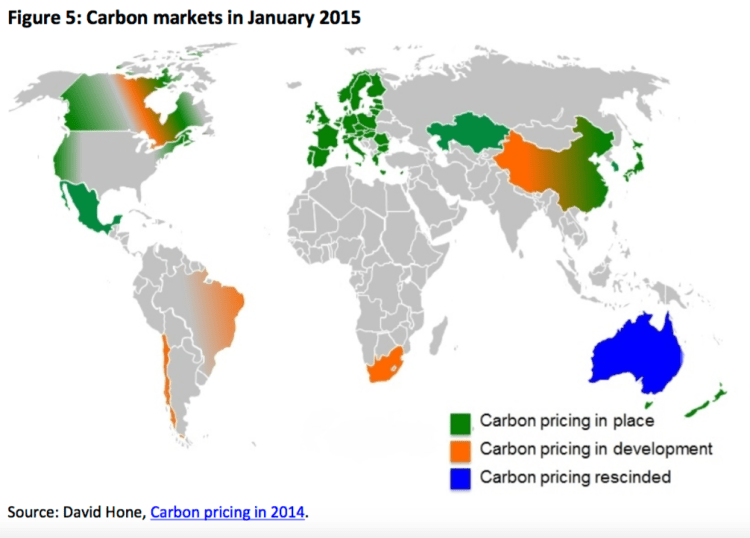 Carbon markets in January 2015