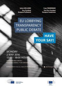 EU Lobbying Transparency Public Debate – HAVE YOUR SAY