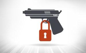 A gun with a lock