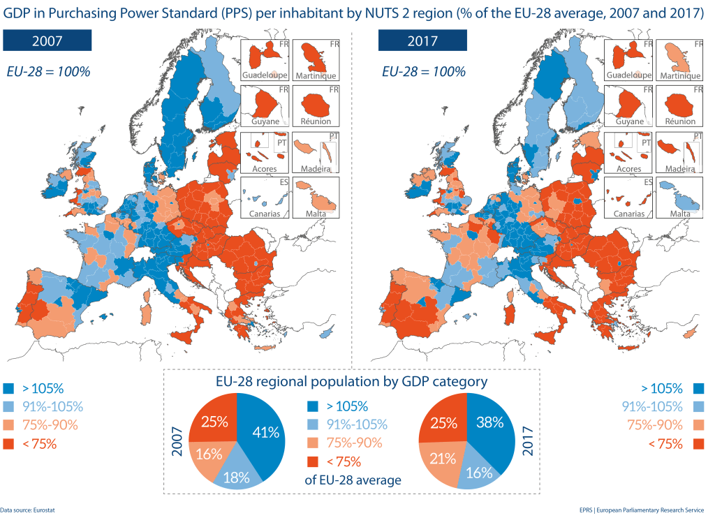 Snapshot of the EU regions with a view to selected Europe 2020 targets