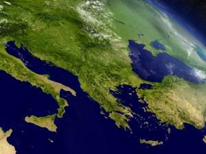 Western Balkans map
