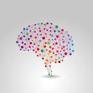 Brain simulation with dots