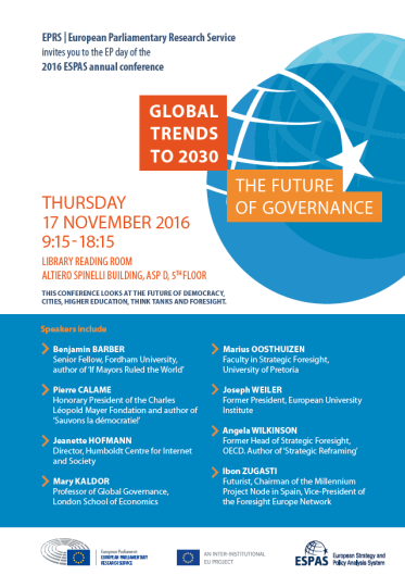 Society and governance: what does the future hold?