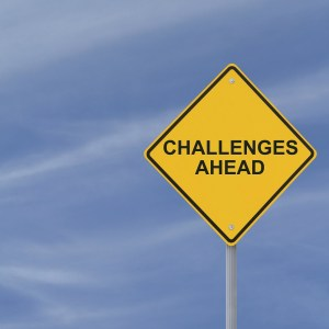Challenges Ahead Warning Sign