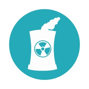 building factory nuclear isolated icon vector illustration design