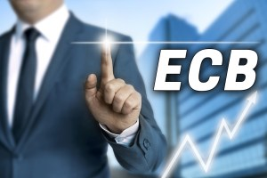 ecb touchscreen is operated by businessman