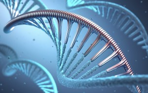 3D illustration, concept of genetic engineering or genetic modification.