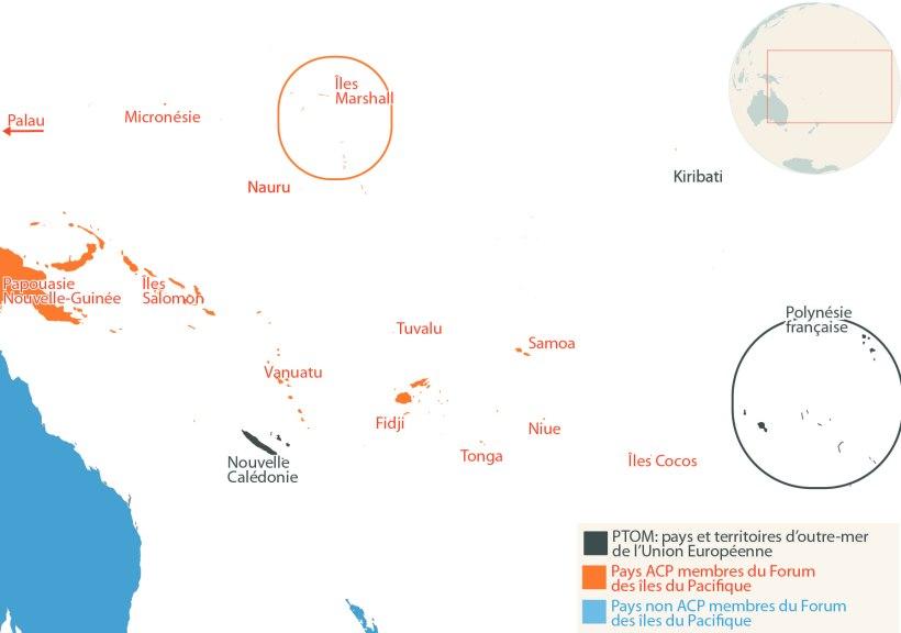 Pacifique : les États membres du Forum des îles du Pacifique ne sont pas tous membres du groupe ACP