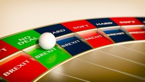 no deal brexit roulette - concept gambling
