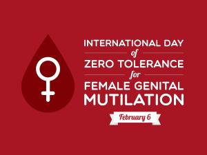Zero tolerance for female genital mutilation