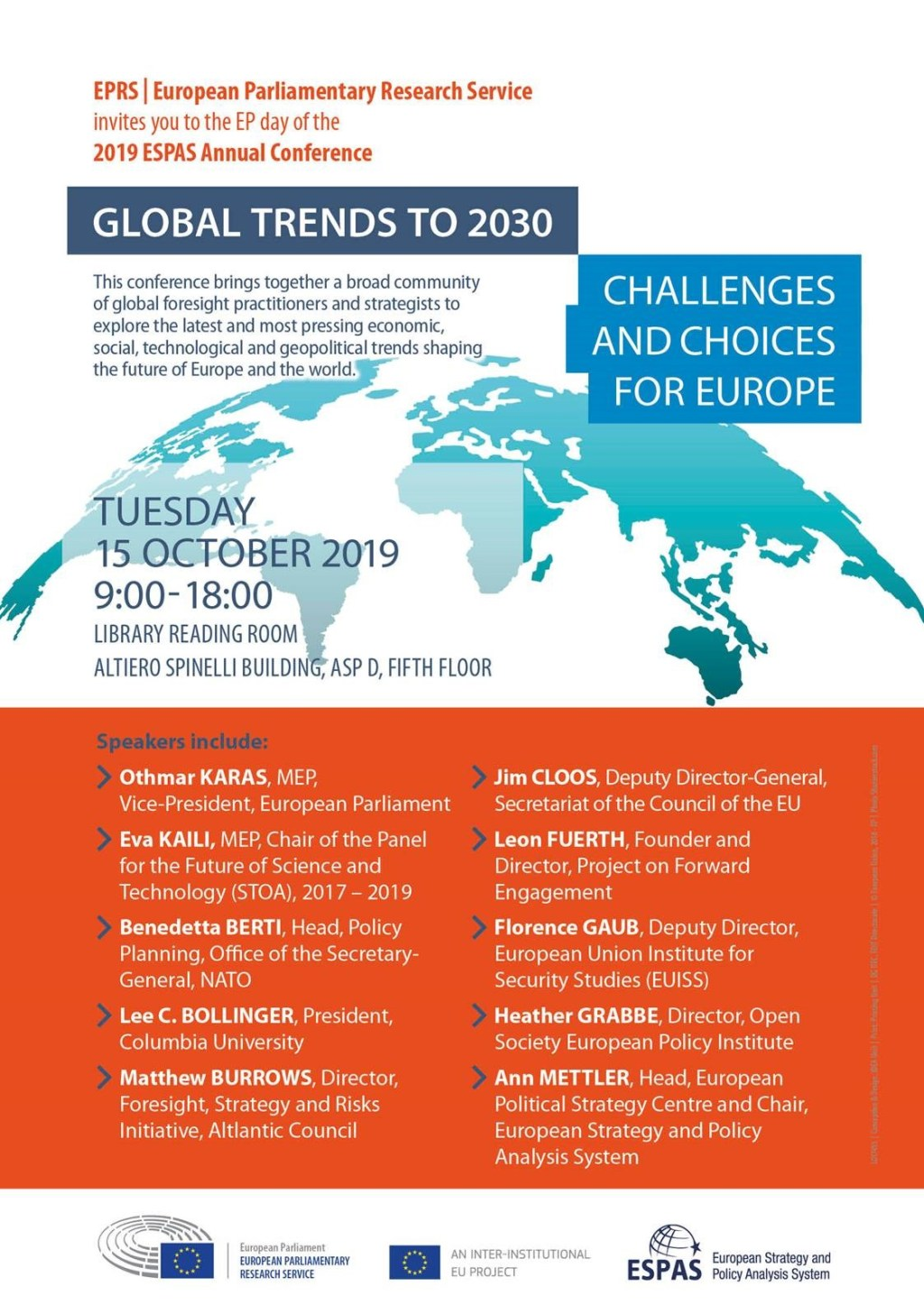 ESPAS Conference 2019: Challenges and choices for Europe