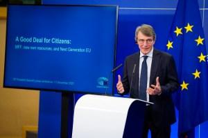Press conference by David SASSOLI, EP President - EU long term budget - MFF