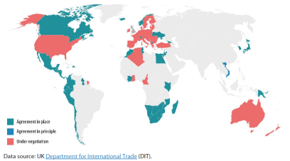 Figure 1 – State of play of UK trade agreements (as of 15 December 2020)