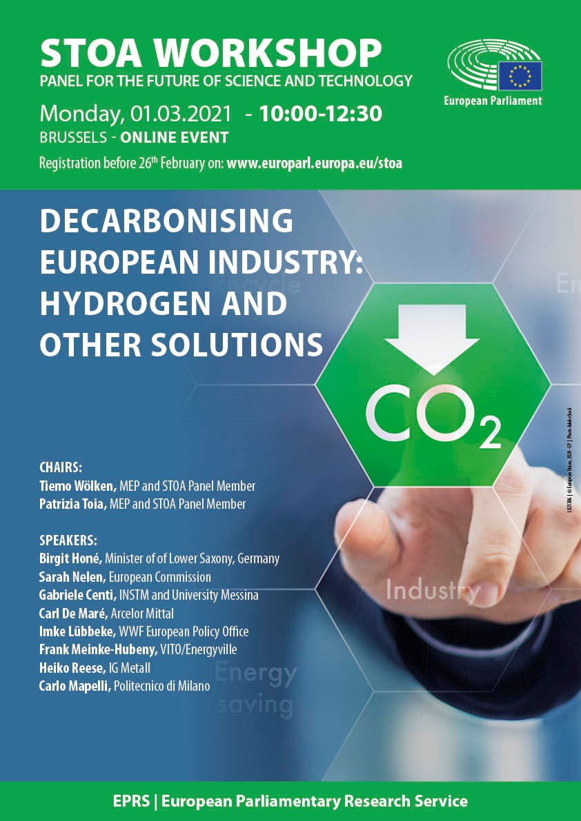 STOA Workshop 'Decarbonising European industry: hydrogen and other solutions'