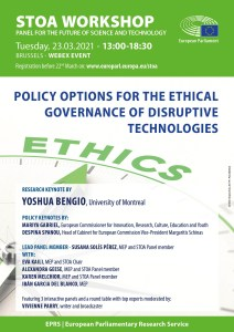 Prioritising ethical principles in the governance of disruptive technologies