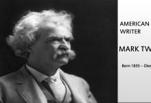 Photo of Mark Twain ( Born 1835 – Died 1910 )