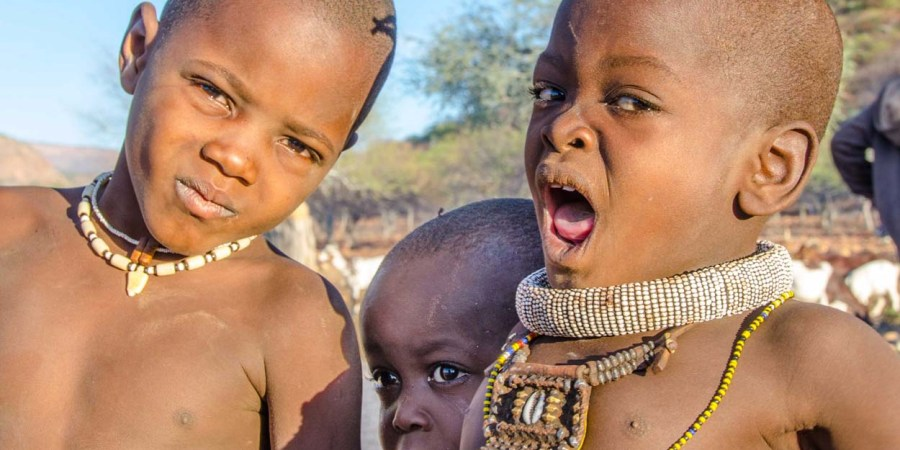Himba Children by Annemarie Coetzee