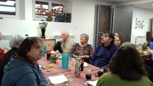 Martine et les invités de la grande tablée