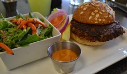 GI Veggie Burger w/GI House Salad