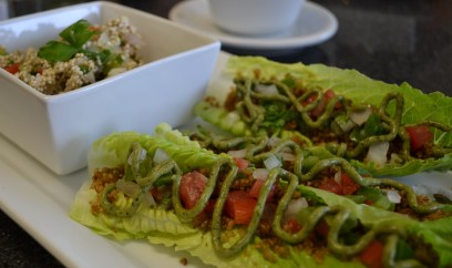 Raw Tacos with Sprouted Quinoa