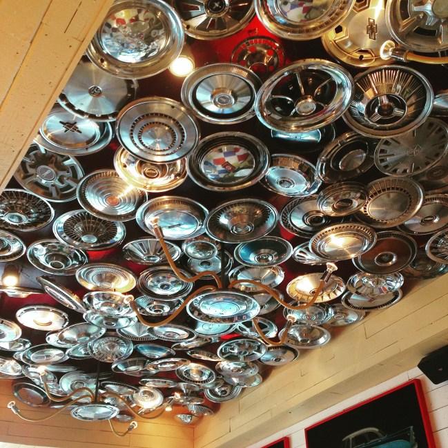 Hub cap ceiling