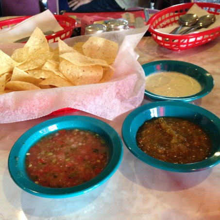 Chips & salsas are brought to your table.